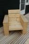 Steigerhouten fauteuil